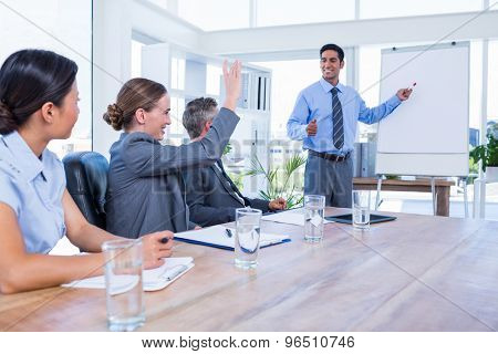 Business people talking during a meeting in the office