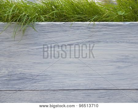 Board With Grass.