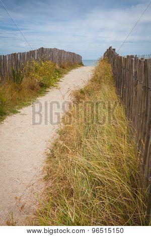 Sandy beach in Brittany