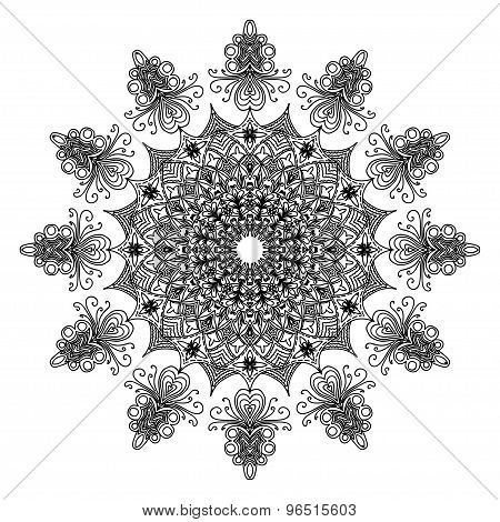 Creative ornament on white background