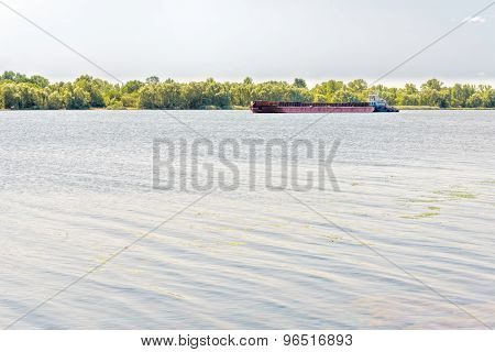 Barge On The Dnieper River