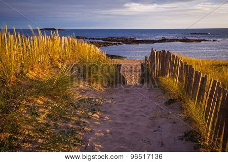 Sandy beach in Brittany