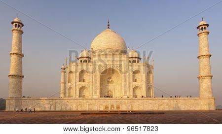Sunrise Over Taj Mahal, India.