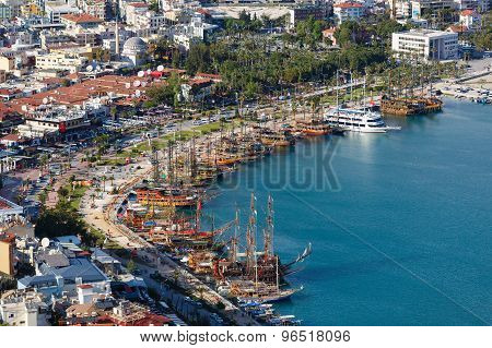 View Of Alanya Bay, Turkey
