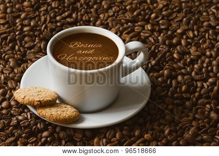 Still Life - Coffee With Text Bosnia And Herzegovina