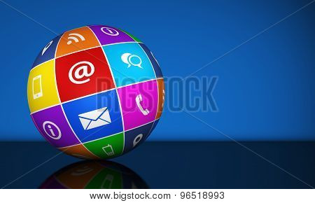 Contact Us Web Icons Globe