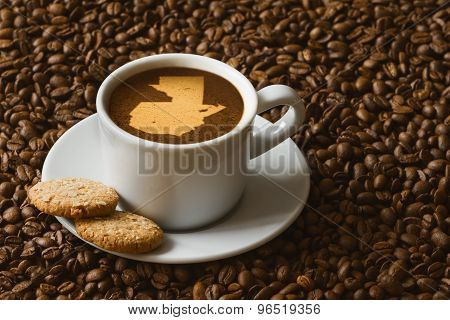 Still Life - Coffee With Map Of Guatemala