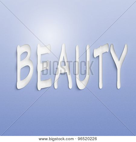 text on the wall or paper, beauty