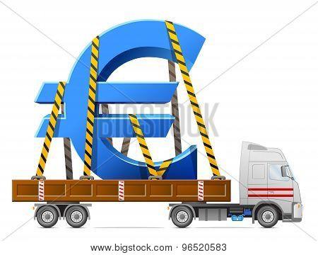 Road Transportation Of Euro Symbol