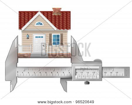 Caliper Measures House Building