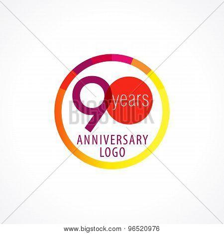 90 anniversary circle logo