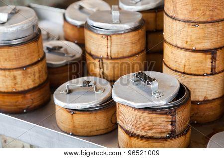 Bamboo Dim Sum steamers