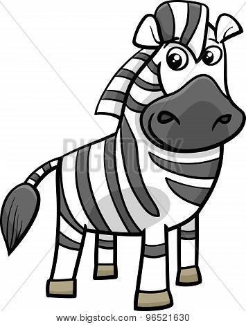 Zebra Animal Cartoon Illustration