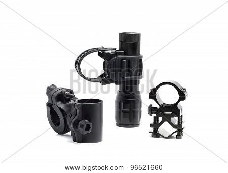 Three Dusty Mount For Flashlight And Flashlight
