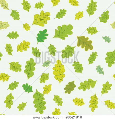 Oak Leaves Seamless Pattern