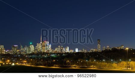 Toronto Panoramic At Dusk