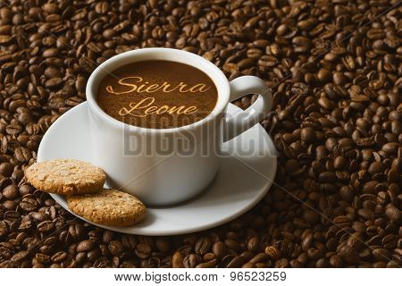 Still Life - Coffee With Text Sierra Leone