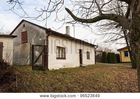 Family house of writer Edward Stachura in Lazieniec, Poland