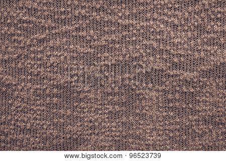 Abstract Knitted Texture Of Dark Terracotta Color