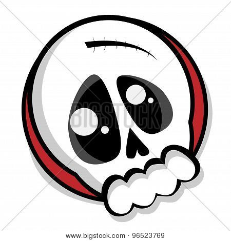 Cute emo skull