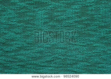 Abstract Texture Jersey Of Green Emerald Color