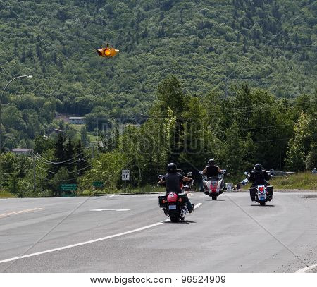 Motorcylists In Cape Breton