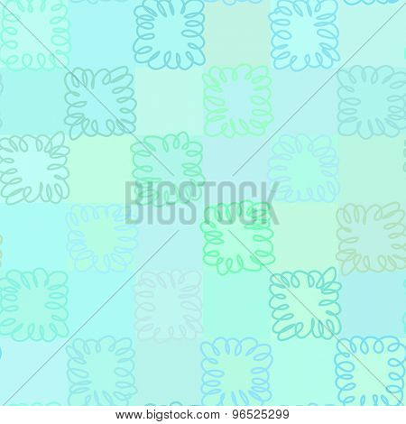 Seamless pattern. Repeating hand drawn Aquamarine background