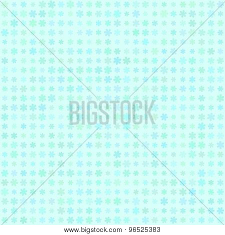 Abstract vector background Polka dot flowers seamless texture Aquamarine colors
