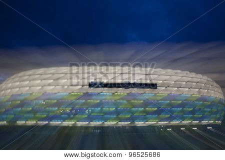 MUNICH, GERMANY May 18 2012 A general view of the stadium at night for the 2012 UEFA Champions League Final played at the Allianz Arena Munich Mandatory credit Mitchell Gunn.