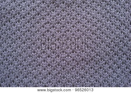 Knitted Honeycomb Texture Of Violet Color