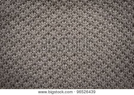 Knitted Honeycomb Texture Of Old Graphite Color