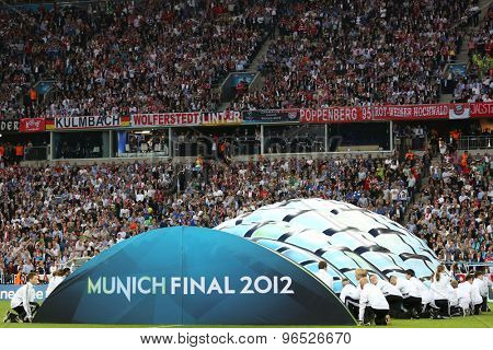 MUNICH, GERMANY May 19 2012. The 2012 UEFA Champions League Final at the Allianz Arena Munich contested by Chelsea and Bayern Munich