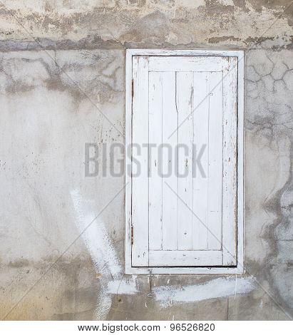 White Window On Old Background