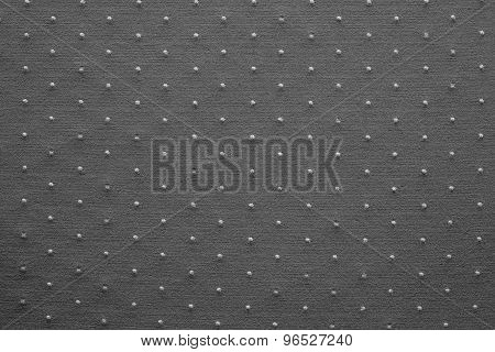 Thin Knitted Fabric Of Black Color With Blond Specks