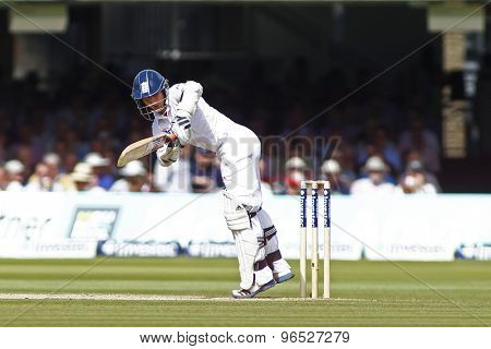LONDON, ENGLAND. AUGUST 17 2012 England's James Taylor during the third Investec cricket  test match between England and South Africa, at Lords Cricket Ground