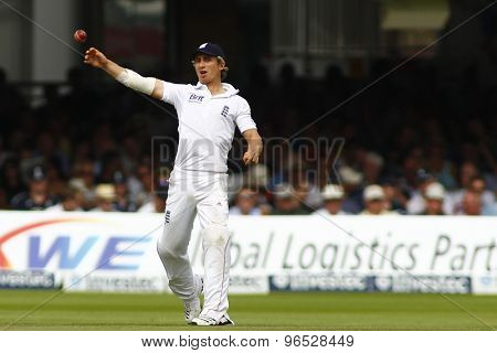 LONDON, ENGLAND. AUGUST 19 2012 England's James Taylor during the third Investec cricket  test match between England and South Africa, at Lords Cricket Ground