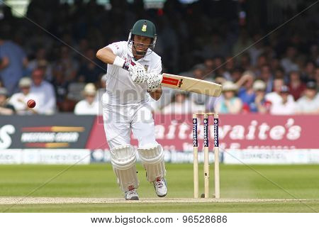 LONDON, ENGLAND. AUGUST 19 2012 South Africa's Jacques Rudolph during the third Investec cricket  test match between England and South Africa, at Lords Cricket Ground