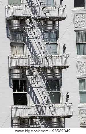 Fire Escape White Building