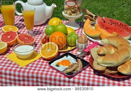 Outdoor Breakfast Or Brunch