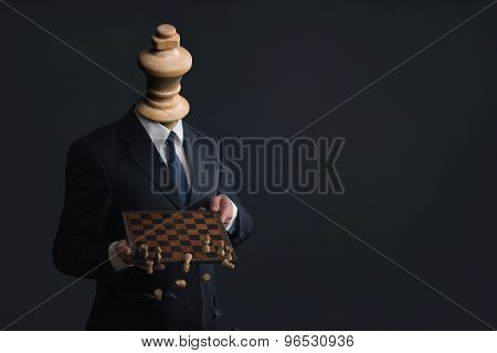 Symbol Of A Businessman Who Fires His Staff