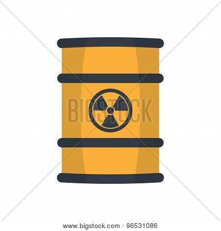 Radioactive Waste In Barrel.