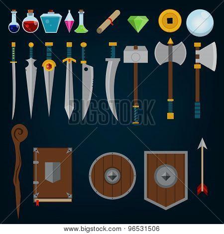Fantasy medieval game assets