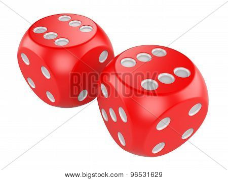 Red Game Dices