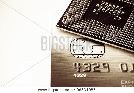 Credit card and processor background