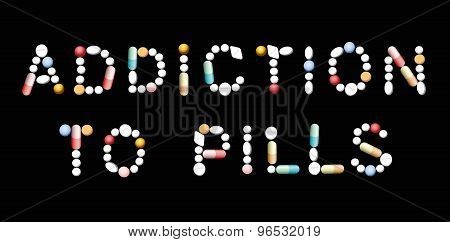 Addiction To Pills Pictogram