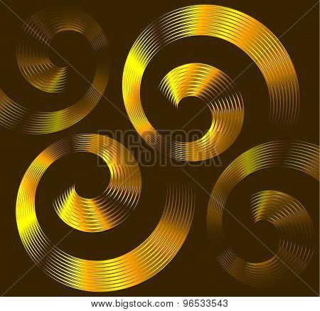 Golden spiral elements with space for text