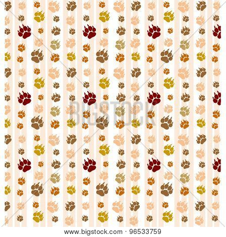 abstract background for desktop with brown cat footprints or traces