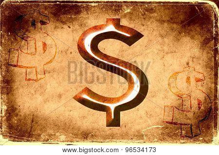 Dollar icon illustration