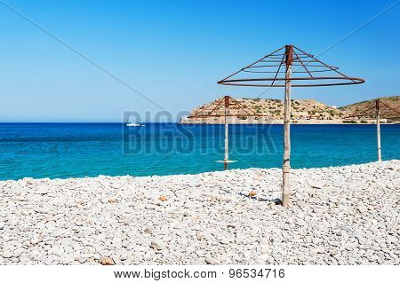 Beautiful Beach With Turquoise Water And White Pebbles
