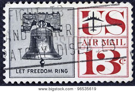Ring my bel on a postage stamp from the usa.